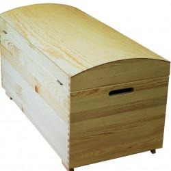 Duży Kufer Drewniany
