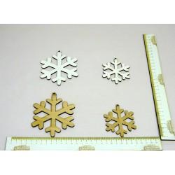 Drewniana Ozdoba Płatek Śniegu