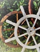 Drewniane koła do wozu, marynarskie